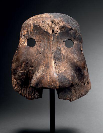 Masque chamanique, Inupiaq (Eskimo), Nord...