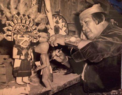 Kachina Clown Tête de Boue, Koyemsi Katsina Hopi, Arizona, États-Unis Deuxième moitié...