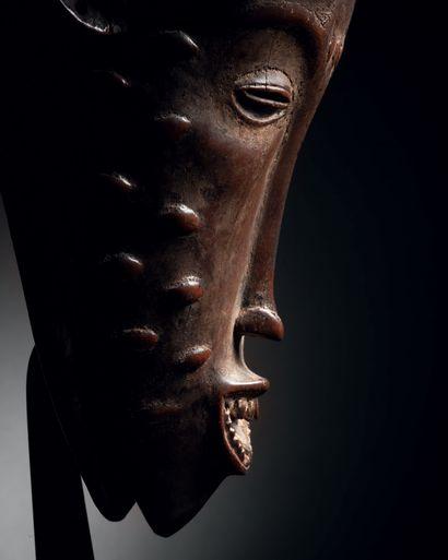 Masque GuGouro, Côte d'Ivoire Bois,pigments anciens H. 32 cm Gouro Gu mask, Ivory...