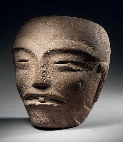 Tête funéraire, Culture Huaxtèque, Mexique...