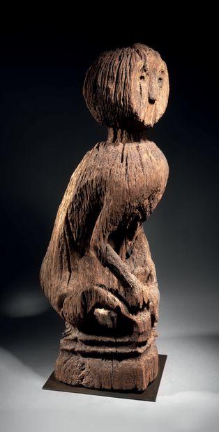 Statue de singe, probablement Iban, région...