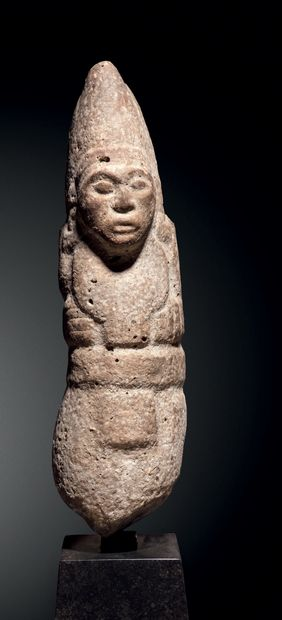 Petite stèle anthropomorphe, Culture Huaxtèque,...