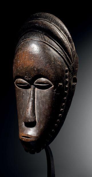 Masque Baoulé, Côte d'Ivoire Bois H. 35 cm...