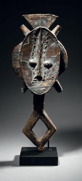 Ɵ Figure de reliquaire Kota, Gabon Bois et...