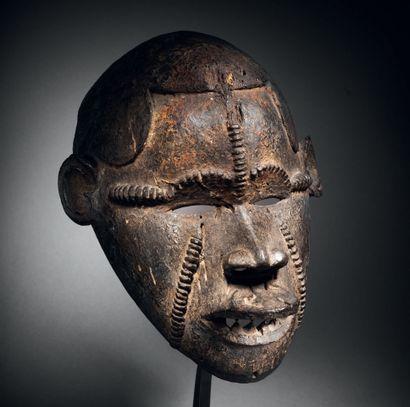 Masque Idoma, Okua, Nigéria Bois H. 27,5...