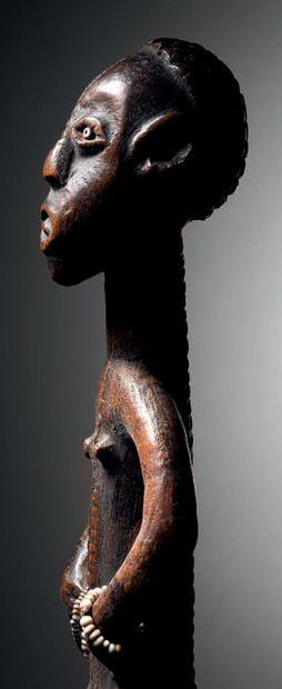 Ɵ Sceptre Tabwa, République Démocratique du Congo Vers 1880 Bois H. 55 cm Tabwa...
