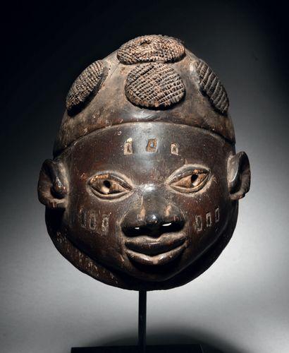 Masque Guelede, Nigéria Bois H. 23 cm Guelede...