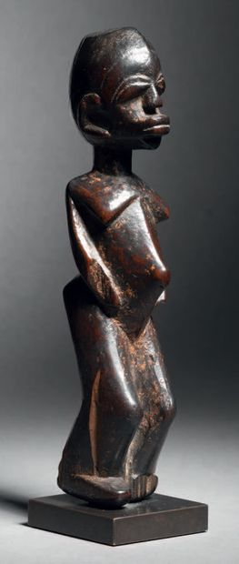 Statue, Lobi, Burkina Faso Bois H. 14,5 cm...