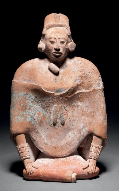 Femme assise Culture Maya, Île de Jaina,...