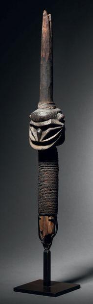 Tête de lance, Vanuatu, Île de Malekula Bois,...