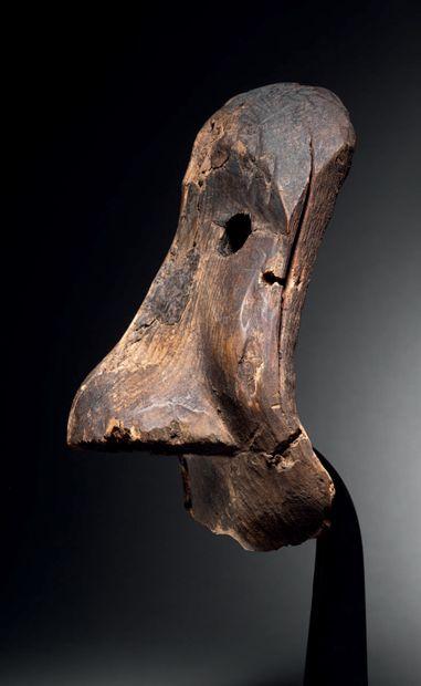 Masque chamanique, Inupiaq (Eskimo), Nord du Détroit de Bering, Alaska XIXe siècle...