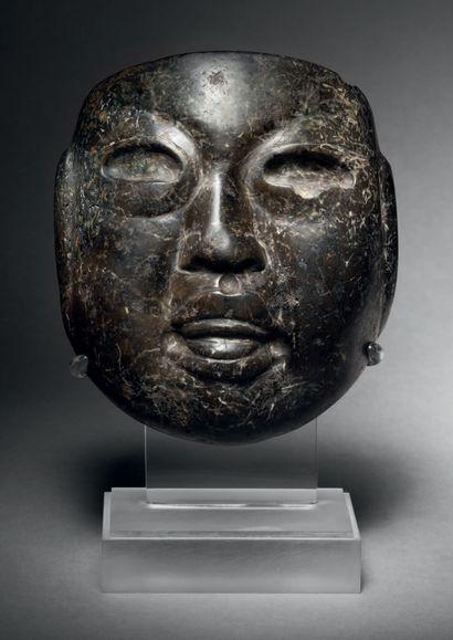 Petit masque anthropomorphe, Culture Olmèque,...
