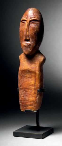 Anthropomorphic figure, Okvik culture, Old Bering Sea I, St Lawrence Island, Bering...