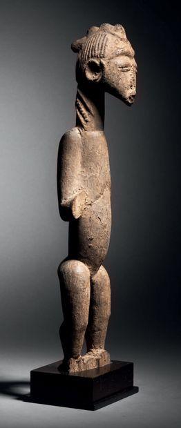 Statue, Baoulé, Côte d'Ivoire Bois à patine...