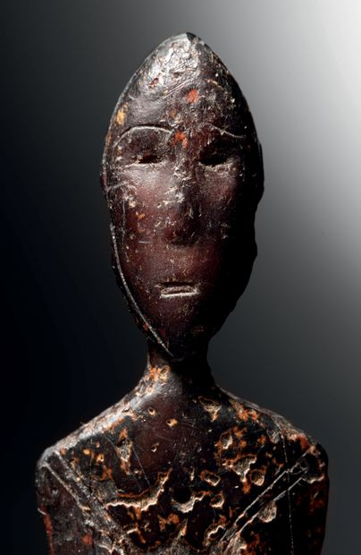 Peigne orné d'une figure anthropomorphe, Culture Old Bering Sea II/III, Ile de Saint...