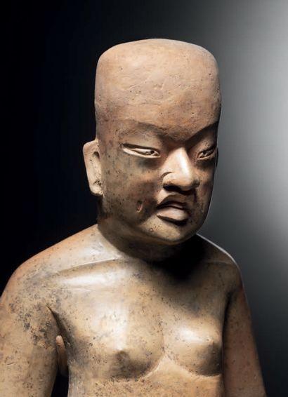 PERSONNAGE NU DEBOUT Culture Olmèque, Las Bocas, Mexique Préclassique moyen, 1200-900...