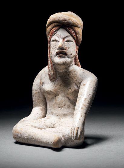 SEATED FIGURE WITH TURBAN Tlatilco culture,...