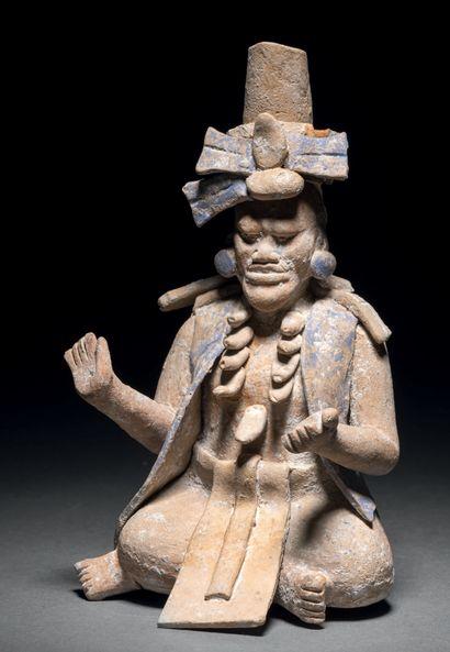 IMPORTANT DIGNITAIRE ASSIS Culture Maya,...