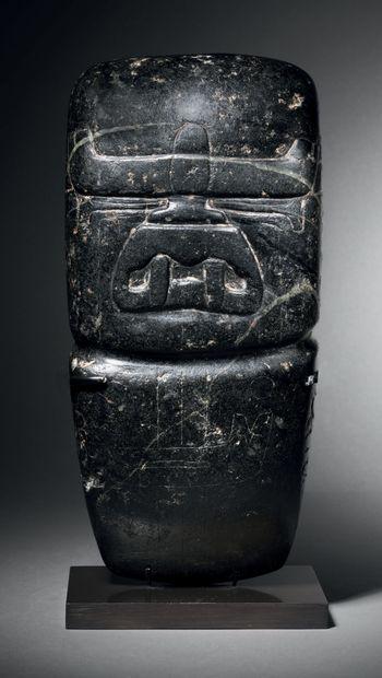 VOTIVE AXE with WERE-JAGUAR FEATURES Olmec...