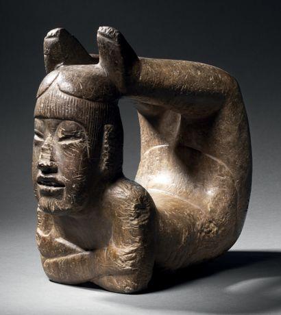 EXCEPTIONAL ACROBATE Olmec culture, Mexico Middle Preclassic, 900-400 B.C.C. Brown...
