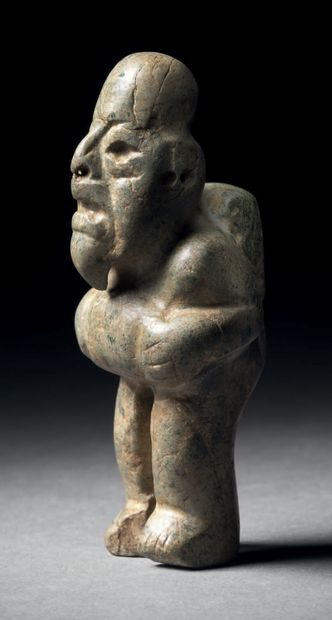 BEARDED FIGURE WITH A HUNCH ON THE BACK Olmec...