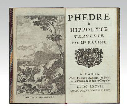 RACINE (Jean). Phaedra & Hippolyta. Tragedy. Paris, Claude Barbin, 1677. In-12, dark...