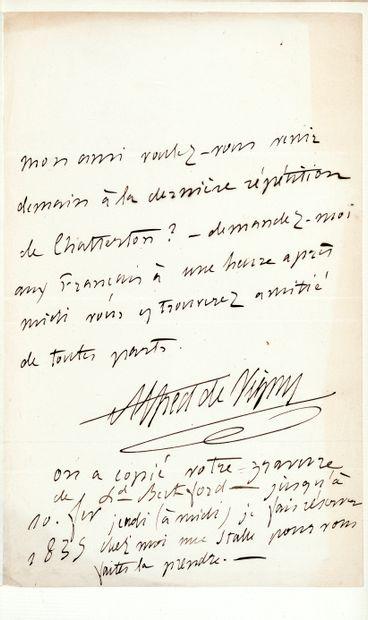 VIGNY (Alfred de). Chatterton. Drame. Paris, Hippolyte Souverain, 1835. In-8, maroquin...