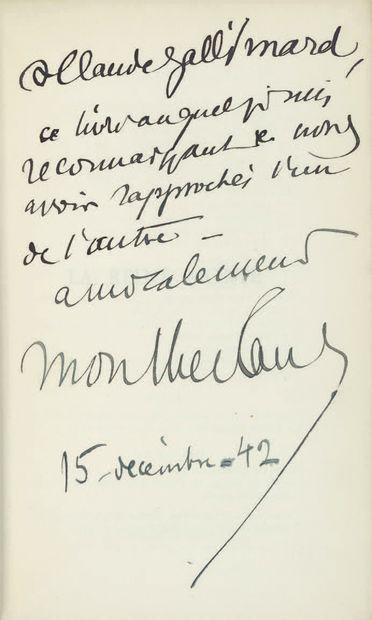 MONTHERLANT (Henry de).