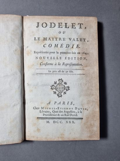 [SCARRON (Paul)]. Jodelet, or The Master Valet. New edition, in conformity with the...