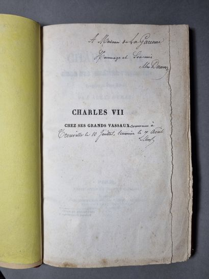 DUMAS (Alexandre). Charles VII at his great vassals. Tragedy in five acts. Paris,...