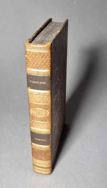 HUGO (Victor). Cromwell. Paris, Ambroise Dupont et Cie, 1828. In-8, fawn half-calf...