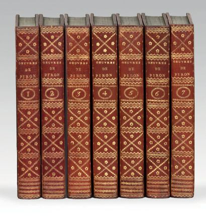 PIRON (Alexis). Oeuvres complettes, publiées par M. Rigoley de Juvigny. Paris, De...