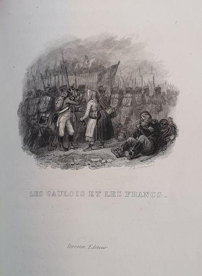 BÉRANGER. iuvres complètes. Paris, Perrotin, 1834. 4 volumes in-8, veau glacé rouge,...