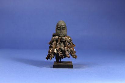 Intéressante statuette janus figurant deux...