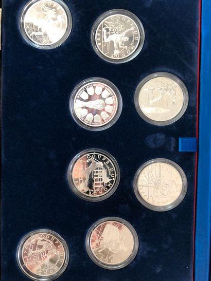 Monnaie de Paris, Ensemble de 8 pièces de...
