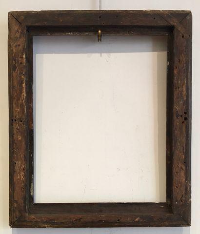 Cadre En bois sculpté doré Epoque louis XVI chêne s 37,5 x 29,8 x 5,5 cm. usures...