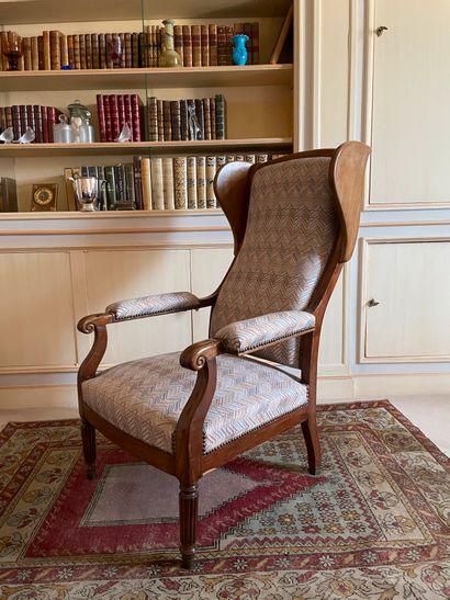 Larges fauteuil En bois naturel et bois de...