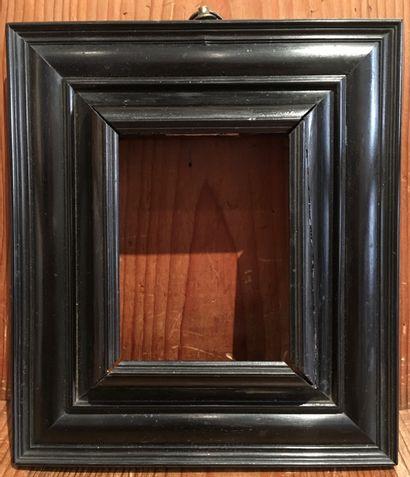 Petit cadre En bois noircis XVIIème siècle