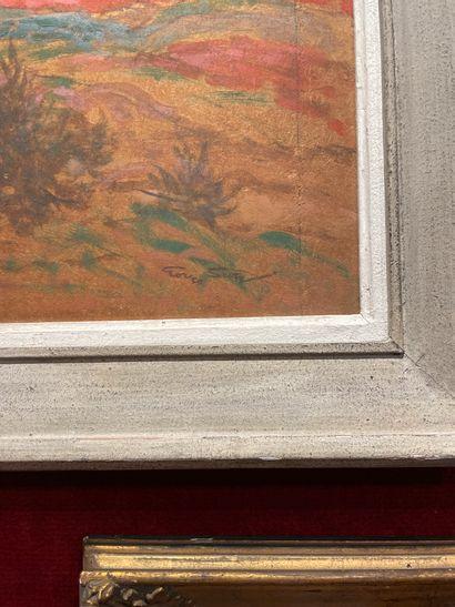 Georges SCOTT (1973-1942) Orientalist Landscape Oil on panel Signed lower right...