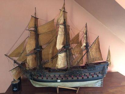 Maquette de vaisseau royal Armé de 80 canons...