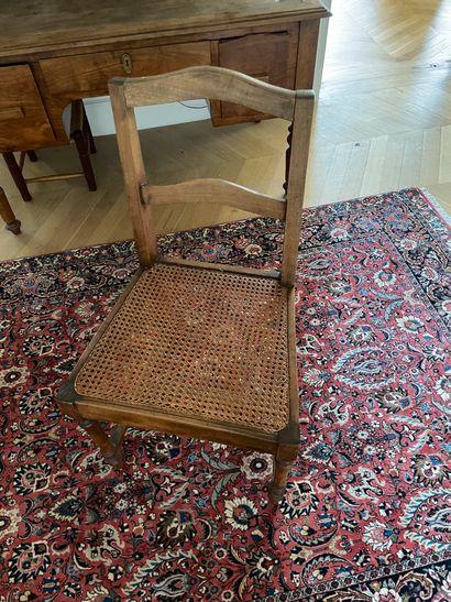 Paire de chaises En bois naturel Dossier...
