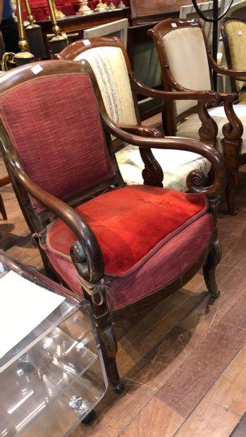 Paire de fauteuils En bois sculpté Epoque...