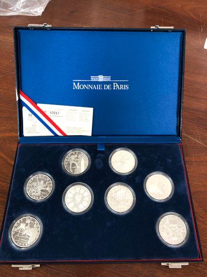 Monnaie de Paris, Ensemble de 8 pièces de 10 francs en argent coupe du monde 1998,...