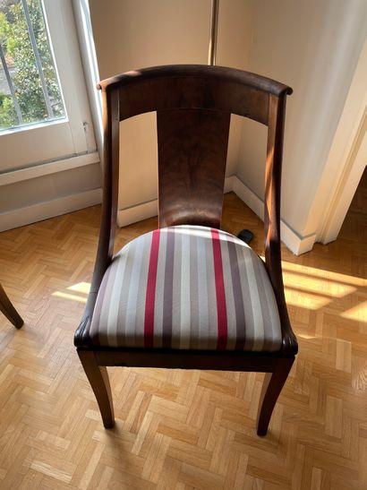 Paire de chaises Dossier Gondole Epoque Restauration...