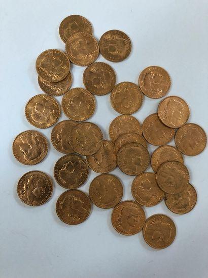 Lot de pièces d'or comprenant 30 pièces de...
