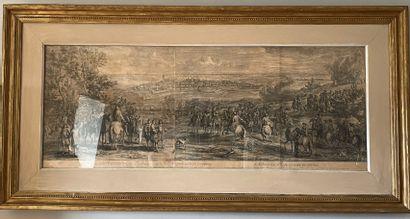 D'après VAN DER MEULEN Siège de la ville d'Oudenarde XVIIIème siècle Accidents