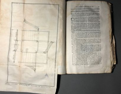 The art of carpentry by Nicolas FOURNEAU 1767 Large volume (as is)