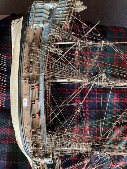 Maquette de vaisseau de ligne du XVIIIème...