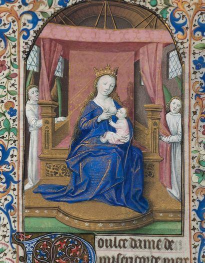 Livre d'heures (à l'usage de Paris). En latin et en français, manuscrit enluminé...