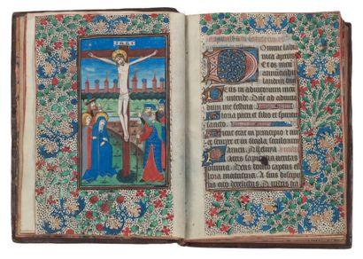 Livre d'heures (à l'usage de Rome). En latin et en néerlandais, manuscrit enluminé...